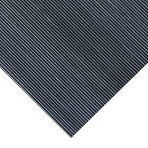 Corrugated Fine Rib 3 ft. x 20 ft. Black Rubber Flooring (60 sq. ft.)