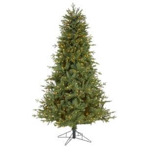 6.5 ft. Pre-Lit New Hampshire Spruce Artificial Christmas Tree with 500 Warm White Lights