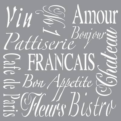 Americana Decor French Living Stencil