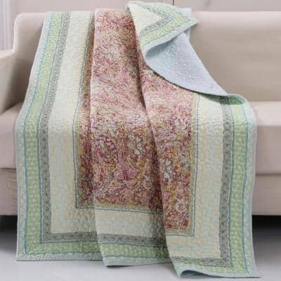 Palisades Pastel Quilted Cotton Throw
