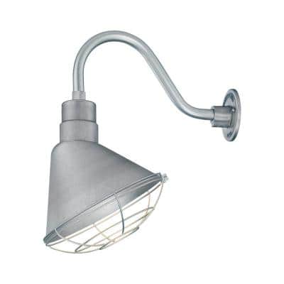 R Series 1-Light 13 in. Galvanized Angle Shade