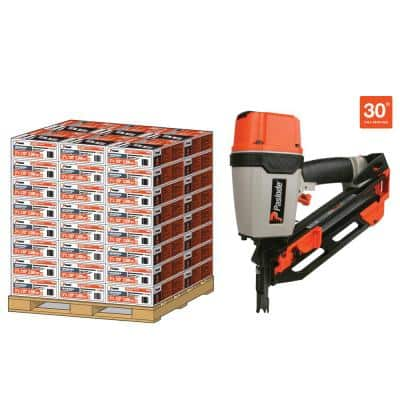 3 in. x 120 in. 30-Degree Brite Smooth Paper-Taped Framing Nails with Compact Framing Nailer