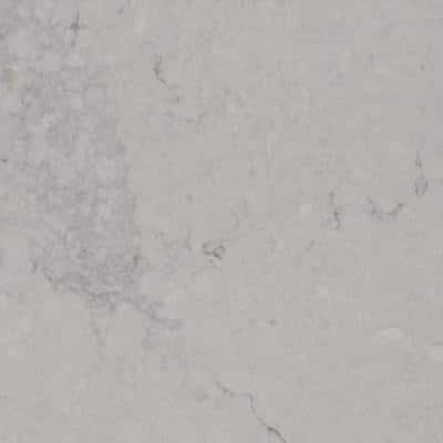 10 in. x 5 in. Quartz Countertop Sample in Noble Grey