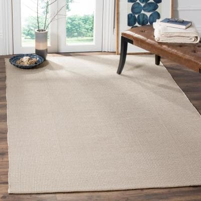 Montauk Ivory/Gray 8 ft. x 10 ft. Solid Gradient Area Rug