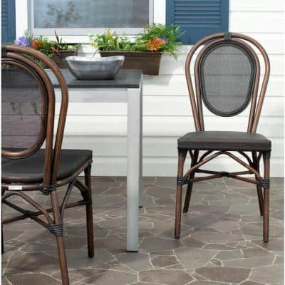 Ebsen Black Textile Aluminum Outdoor Dining Chair (2-Pack)