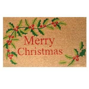 Merry Christmas 17 in. x 29 in. Coir Door Mat