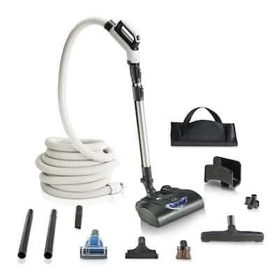 Premium 35 ft. Universal Central Vacuum Hose Kit with Wessel Werk Power Nozzle