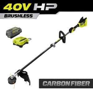 40V HP Brushless 15 in. Cordless Carbon Fiber Shaft Attachment Capable String Trimmer with 4.0 Ah Battery and Charger