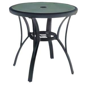 Commercial Grade Aluminum Brown Round Outdoor Patio Bistro Table