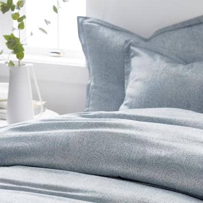Collins Blue Paisley Bamboo Duvet Cover