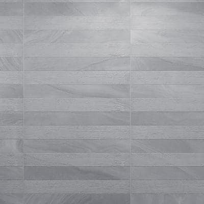 Austral Grey 13 in. x 25 in. Glazed Porcelain Decorative Wall Tile (10.76 sq. ft./case)
