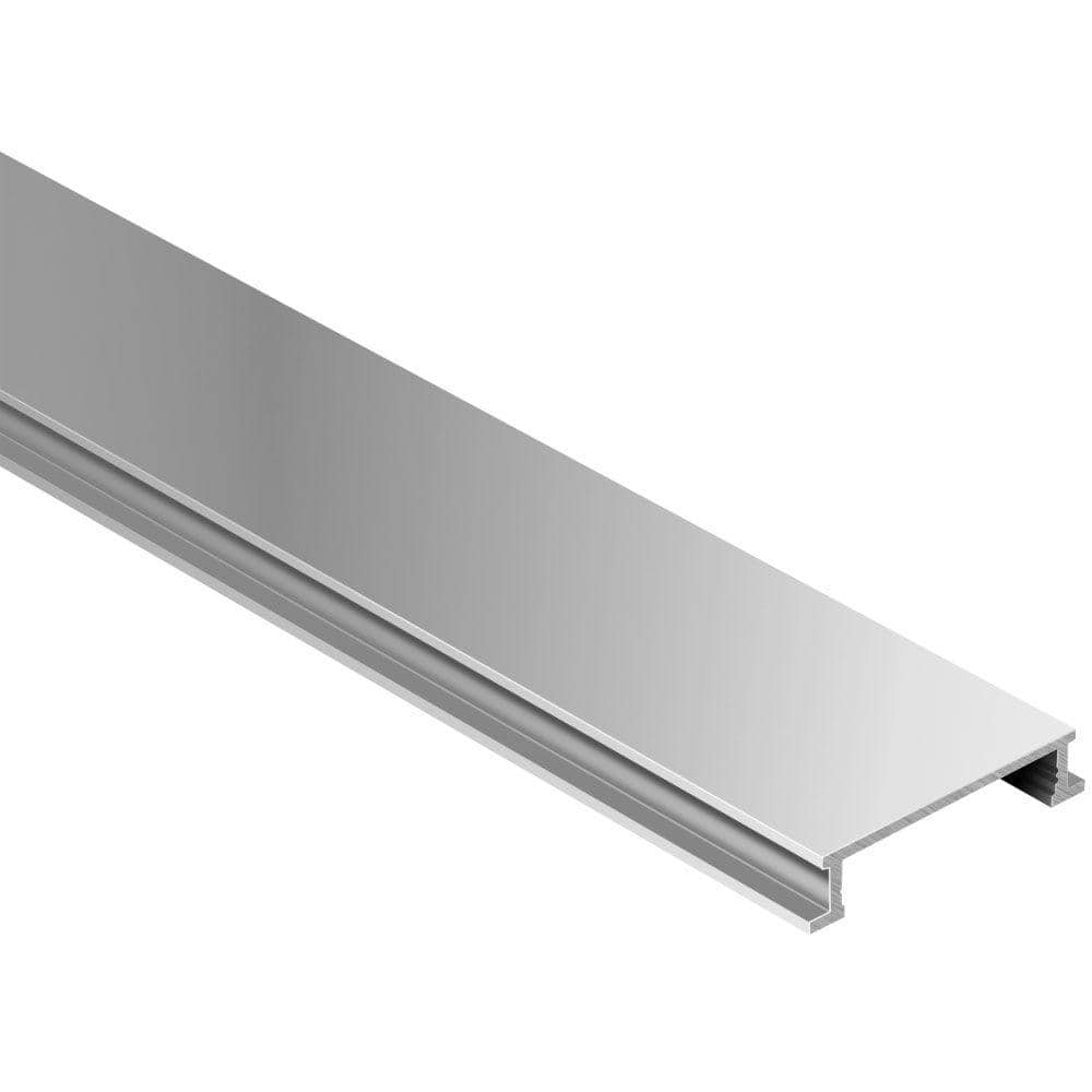 Schluter Systems Designline Satin Anodized Aluminum 1 4 In X 8 Ft 2 1 2 In Metal Border Tile Edging Trim Dl625ae The Home Depot