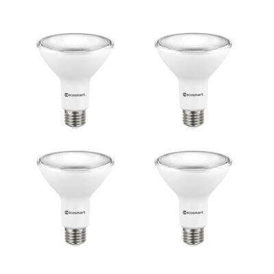 75-Watt Equivalent PAR30 Dimmable Flood LED Light Bulb Bright White (4-Pack)