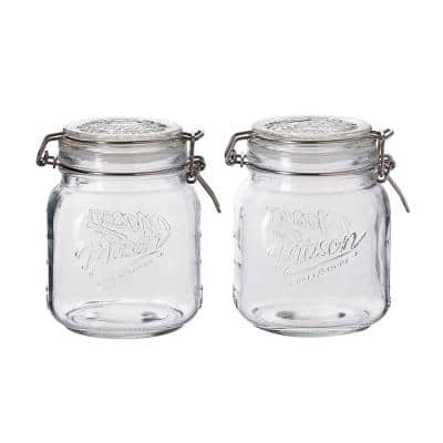 34 oz. Preservative Jar with Lid (Set of 2)