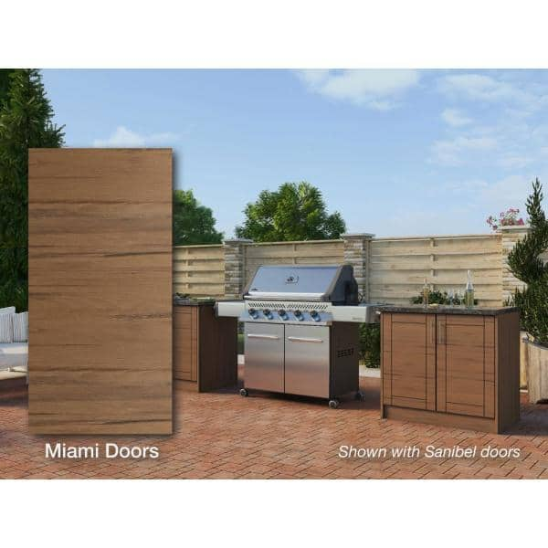 Weatherstrong Miami Teak 16 Piece 73 25 In X 34 5 In X 25 5 In Outdoor Kitchen Cabinet Island Set Wse72wc Mtk The Home Depot