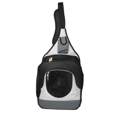 Single Strap Over-the-Shoulder Navigation Hands Free Back Pack and Front Pack Pet Carrier