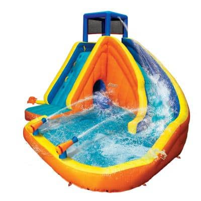 Sidewinder Falls Inflatable Water Slide with Tunnel Ramp Slide