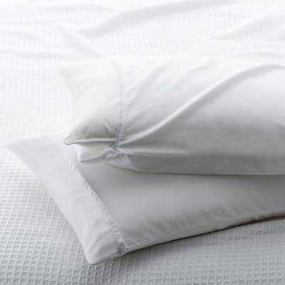300-Thread Count Cotton Sateen Standard Pillow Protector