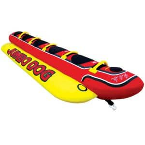 Jumbo Hot Dog 5-Person Rider Inflatable Towable Lake Boat Tube