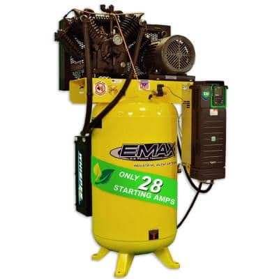Industrial PLUS 80 Gal. 10 HP Multi-Phase Electric Variable Speed Smart/Silent Pressure Lubricated Air Compressor