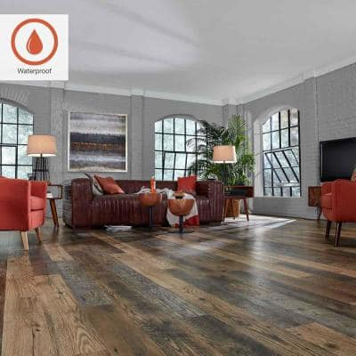 Outlast+ Waterproof Honeysuckle Oak 10 mm T x 6.14 in. W x 47.24 in. L Laminate Flooring (16.12 sq. ft. / case)