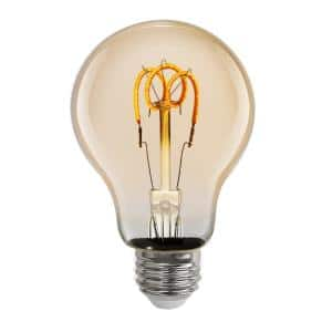 25-Watt Equivalent AT19 Dimmable Amber Glass Vintage Edison LED Light Bulb with W-Type Filament Warm White (1-Bulb)