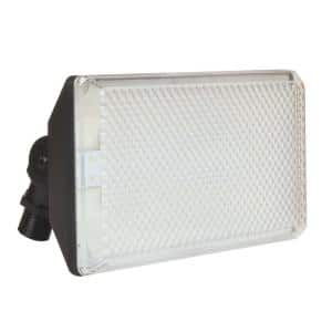 13.5-Watt Black Outdoor Integrated LED Flood Light