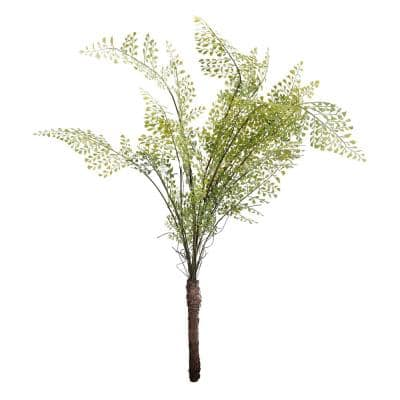 46 in. Wood Fern Bush Green Faux Botanical