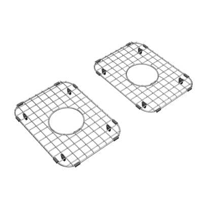 Delancey 13-3/8 in. x 9-13/16 in. Double Bowl Kitchen Sink Grid in Stainless Steel