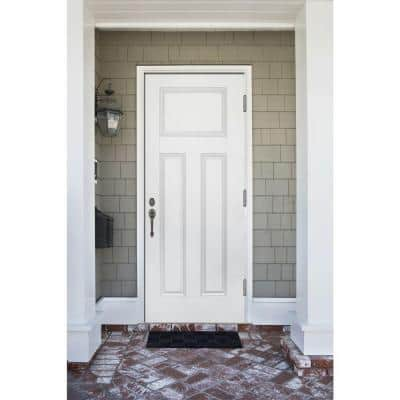 Premium 3-Panel Primed White Steel Prehung Front Door