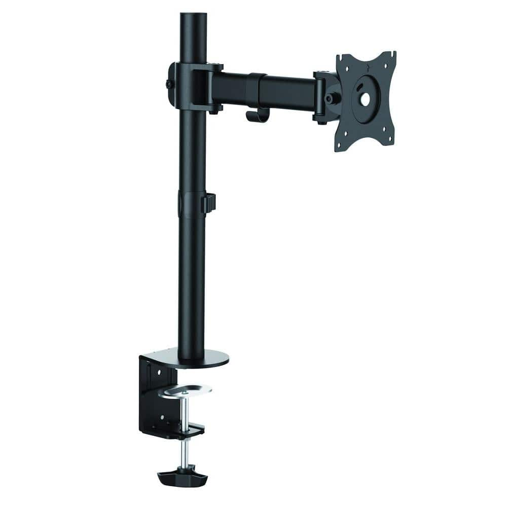 Proht Single Monitor Desk Mount Arm For 13 In 27 In Screens Holds 1 Monitor 45 Degree Tilt 17 6 Lb Capacity 05327 The Home Depot