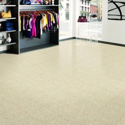 Imperial Texture VCT 12 in. x 12 in. x 3/32 in. Sandrift White Standard Excelon Vinyl Tile (45 sq. ft. / case)