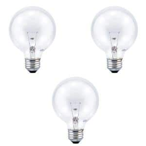 40-Watt G25 Globe Double Life Incandescent Clear Light Bulb in 2700K Soft White Color Temperature (3-Pack)