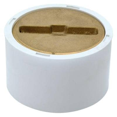 3 in. x 4 in. PVC Clean-Out with Brass Plug