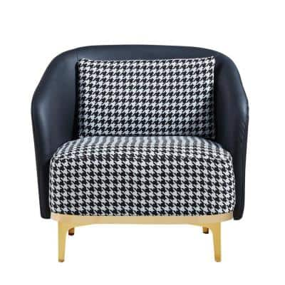 Multi Color Upholstered Single Accent Sofa Arm Chair