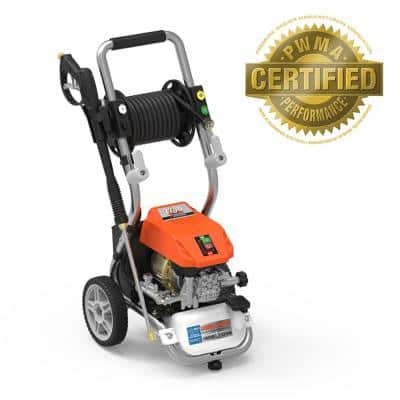 2200 PSI 1.2 GPM Cold Water Liquid-Cooled Electric Pressure Washer with Live Hose Reel and BONUS Turbo Nozzle