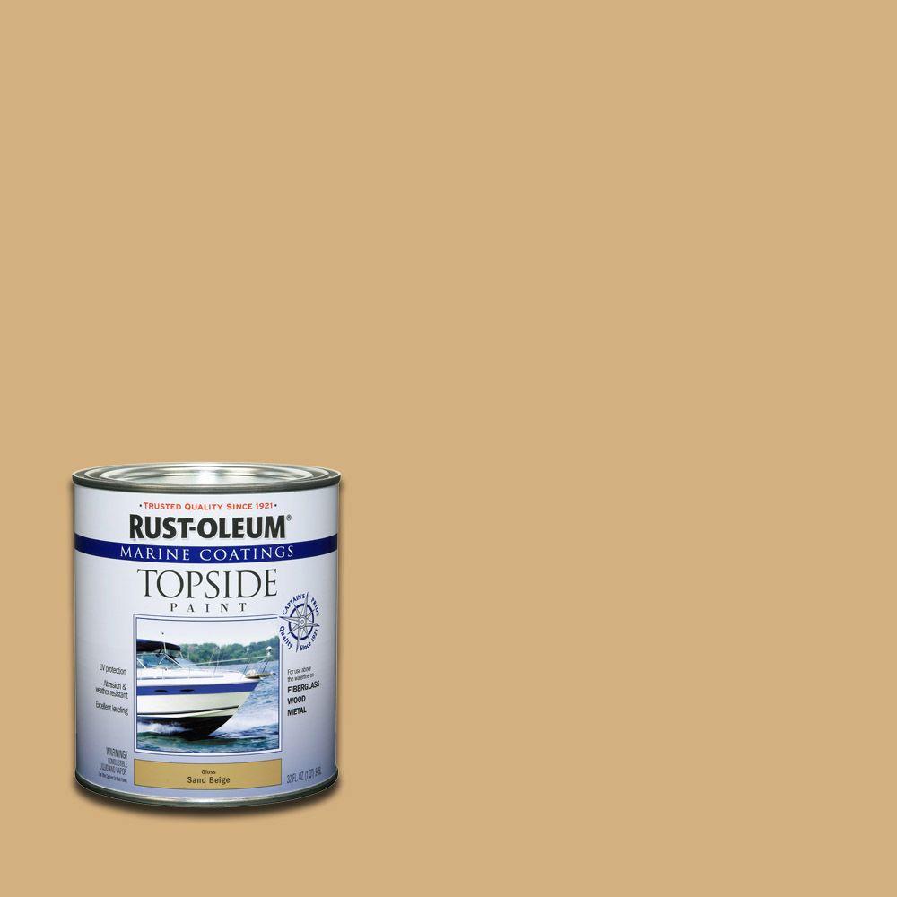 1 qt. Gloss Sand Beige Topside Paint (4-Pack)