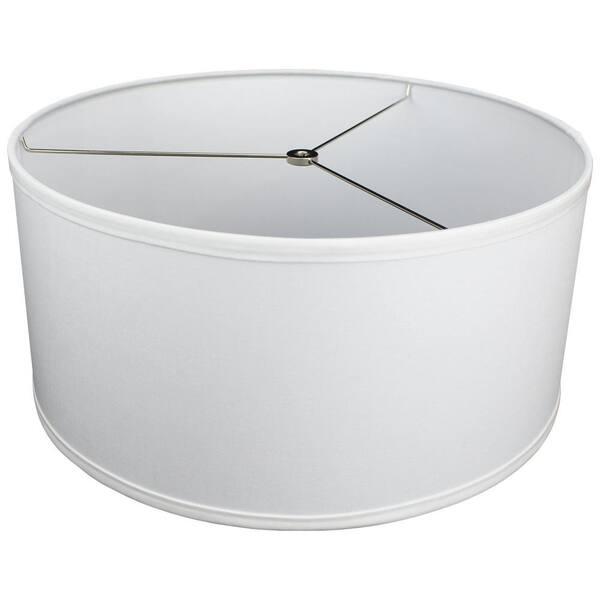 H Linen White Drum Lamp Shade 17, White Drum Lamp Shade
