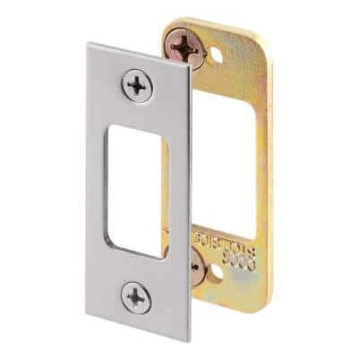 Security Deadbolt Strike, for Use with Wood Or Metal Doorjambs, 2-3/4 in. H x 1-1/8 in. W, Steel, Satin Nickel