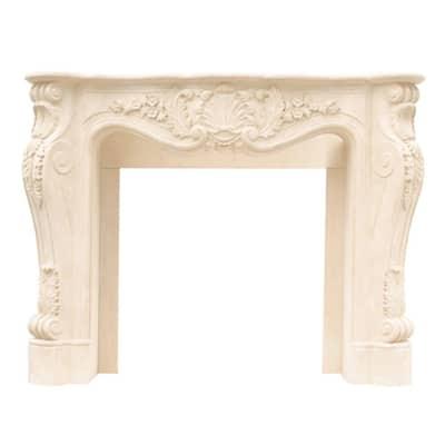 Designer Series Louis XIII 47 in. x 53 in. Cast Stone Mantel