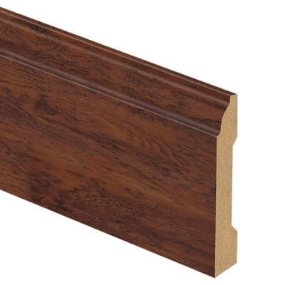Dark Brown Hickory/Tattersall Hickory 9/16 in. Thick x 3-1/4 in. Wide x 94 in. Length Laminate Base Molding