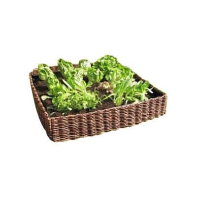 144 in. L 48 in. W 12 in. H Standard Woven Willow Raised Garden Bed (4-Pieces)