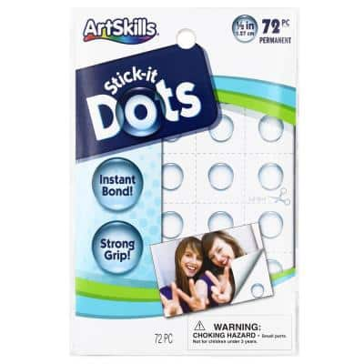 0.5 in. Each Stick It Permanent Adhesive Craft Glue Dots (72-Pack)