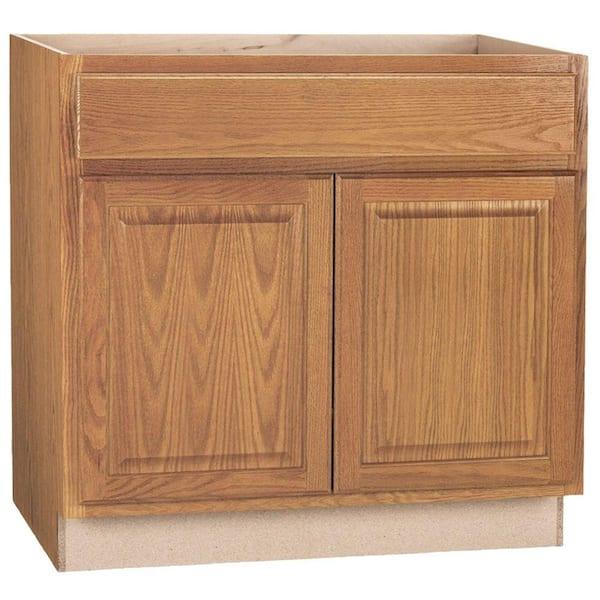 Hampton Bay Medium Oak Raised, 36 Inch Cabinet
