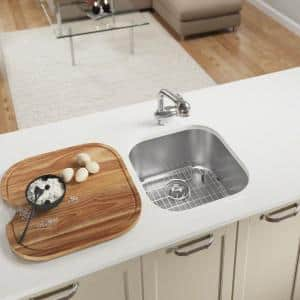 Stainless Steel 20 in. Undermount Bar Sink with Additional Accessories