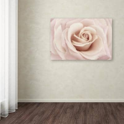 """30 in. x 47 in. """"Peach Pink Rose"""" by Cora Niele Printed Canvas Wall Art"""