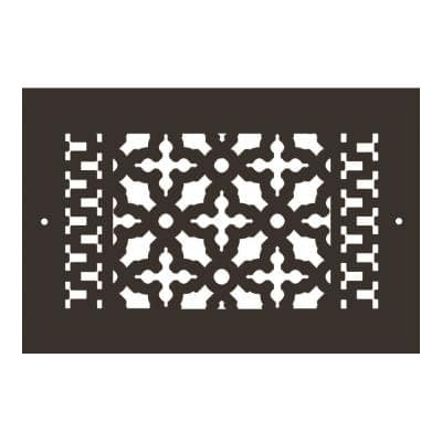 Scroll Series 10 in. x 6 in. Aluminum Grille, Oil Rubbed Bronze with Mounting Holes
