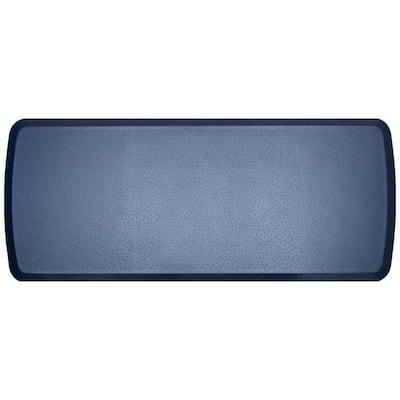 Elite Quill Atlantic Blue 20 in. x 48 in. Comfort Kitchen Mat