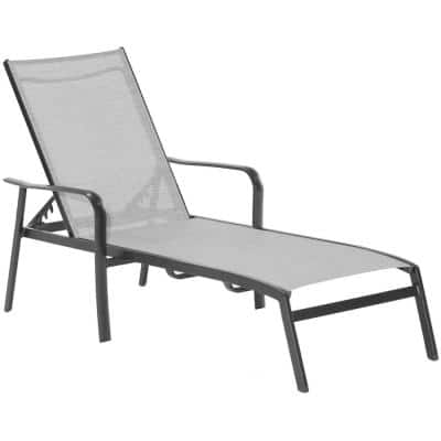 Foxhill All-Weather Commercial Rust-Free Aluminum Outdoor Chaise Lounge Chair with Sunbrella Sling Fabric