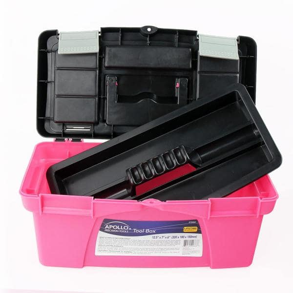 Apollo 16 in., 16.16 in. and 16 in. Tool Box in Pink (16-Components